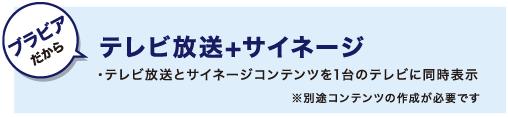 テレビ放送+サイネージ