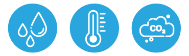 測定内容(CO2濃度、温度、湿度)