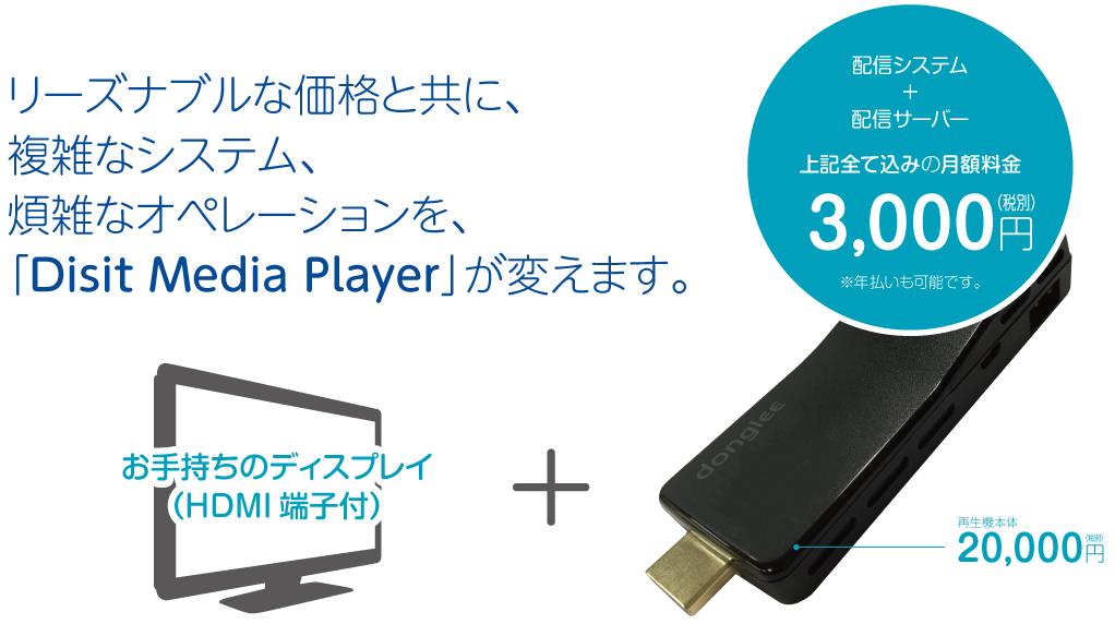 デジタルサイネージ クラウド配信システム「Disit Media Player」