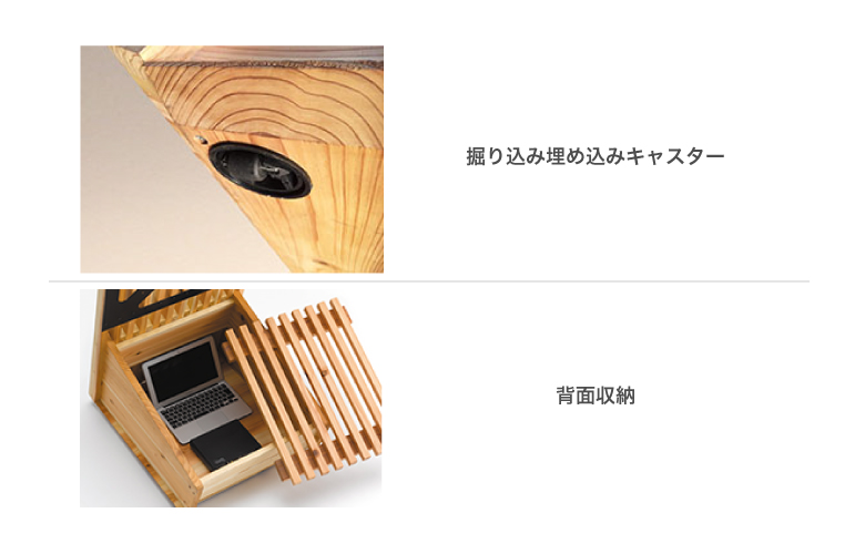 AVAWOOD 木製スタンド SS-TGS11-JC11 『たてごうし』 32〜50型対応 キャスター付き・背面収納