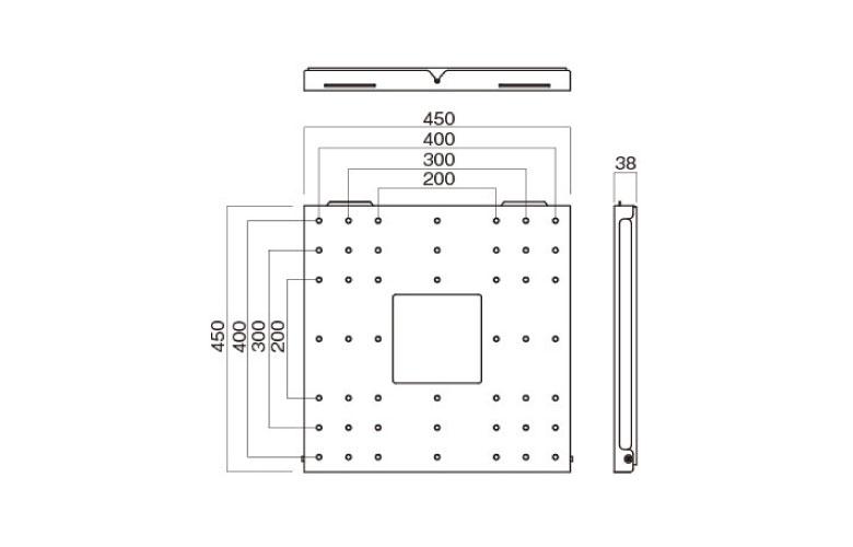 壁掛金具 LH-631 〜65V型対応 薄型設計 寸法図
