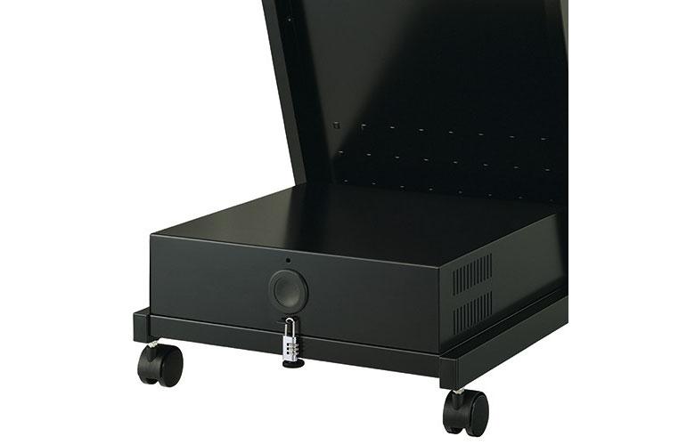 ディスプレイスタンド XS-4860H 〜65V型対応-収納ボックス標準装備